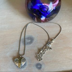 Brighton 2 Tone Heart Necklace